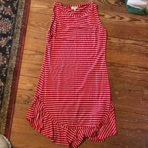 Max Studio Red/White Striped Dress